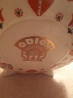 Hollóházi porelán kulacs Orion felirattal