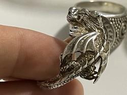 Ezüst férfi gyűrűk 20mm  belső átmérővel
