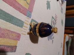Romanov cobalt tojás óra. Fabergé forma