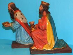 23 cm-es terakotta bethleni figurák jó állapotban a XX. szd. elejéről