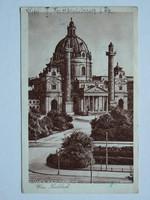 BÉCS (WIEN), KÁROLY TEMPLOM FOTÓ 1930 KÖRÜL, POST CARD, KÉPESLAP (9X14 CM) EREDETI