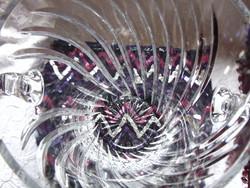 Hatalmas üveg vagy kristály pezsgős vödör