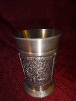Német zinn kupa, 95 %-os, ETAINPUR, felső átmérője 7,5 cm.