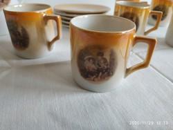 Zsolnay kávés készlet