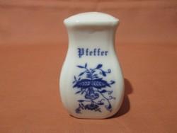 Porcelán borsszóró, bors tartó, sószóró, sótartó, fűszertartó