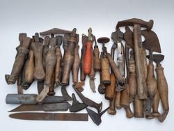 Antik suszter szerszám cipész munkaeszköz 59 db