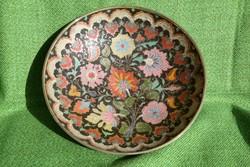 Indiai színes réz tál
