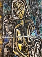 Hatalmas Gara kerámiakép
