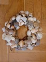 Ajtó dísz koszorú kagylók zen 24cm átm.