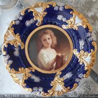 Royal Vienna porcelán tányér