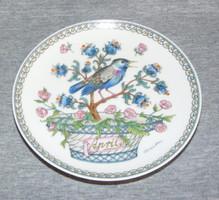 Hutschenreuther madaras, hónapos falitányér