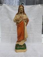 Antik Kerámia Jézus Szobor 43cm.