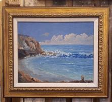 Napsütötte tengeröböl, amerikai olajfestmény vásznon (40x50)