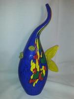 LAFIORE üveg hal szobor jelzett eredeti