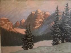 Tordai Székely Mihály (1890-1940): Téli táj 60x80 cm.,69eft.!