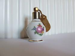 Régi Limoges-i francia porcelán  parfümös üveg, parfüm tartó