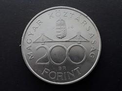 Ezüst 200 Ft 1994 érme - 94-es nagyon szép Deák Ferenc-es ezüst fém kétszázas pénzérme eladó