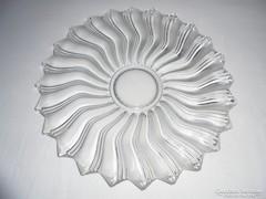Antik üveg kínáló tál - 31.4 cm átmérő