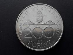 Ezüst 200 Ft 1994 érme - 94-es, enyhén patinás Deák Ferenc-es ezüst fém kétszázas pénzérme eladó