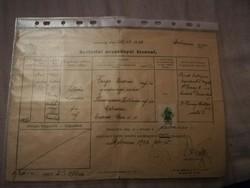 Születési anyakönyvi kivonat
