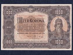 Nagyméretű Korona Államjegyek 1000 Korona bankjegy 1920 Gyönyörű! (id41813)