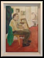 'Önarckép - A pihenő művész' -  Talán Bernáth Aurélt ábrázoló olaj-vászon alkotás a 70-es évekből