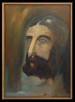 Jézus, 2000 - Szép színvilággal megfestett Jézus ábrázolás nyugat-európai művésztől