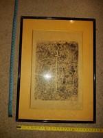Hegyi 96, Hegyi György szignós grafika, litó vagy szita