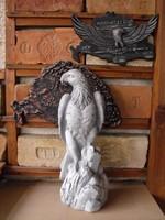 RITKA kő Sólyom 50cm Címer madár Fagyálló műkő  Kerítés kapu oszlop ra nem sas