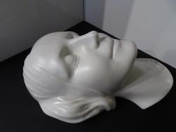 Gyönyörű hibátlan Metzler&Ortloff porcelán női arc fali dísz.