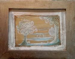 Aranyliget. 30x22,5 cm-es kép, Károlyfi Zsófia Prima djas alkotótól.