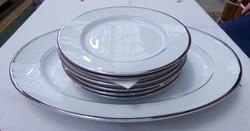 Zsolnay platinaszegélyes tányérkészlet