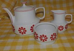 Hollóházi ,virágos tea kínáló