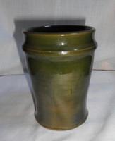 Zöld, kézműves kerámia pohár