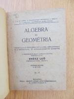 (1934) Algebra és Geométria : Grész Leó (Németh József Könyvkereskedése)