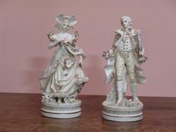 Antik fajansz szobor pár