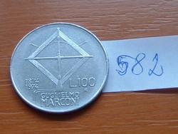 OLASZ 100 LÍRA ND (1974) 1874-1974 G.MARCONI  #582