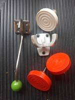 5 db retro design fiók gombok, akasztók gyűjtők számára