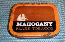 Gyűjtőknek ! Ritka! Mahogany flake tobacco , angol fém dohány doboz, szelence cca.1940-50