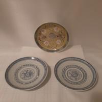 Kínai rizsszemes porcelán kis tányér ( 2 +1 db)