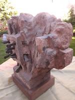 Várady Sándor, Munkácsy-díjas szobrász műve, jelzett szobor