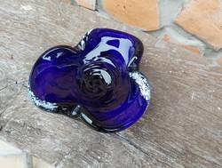 Gyönyörű (  Bohemia )cseh üveg  színes hamutartó, hamus .Gyűjtői darab