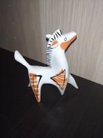 Ultra ritka Kőbányai Drasche Art-Deco porcelán lovacska