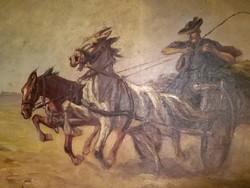 Kolozsváry Endre lovas festménye
