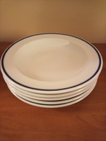 5 db-os Alföldi porcelán mély tányér