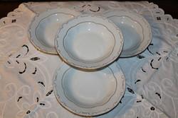 Zsolnay barokk tollazott tányérok