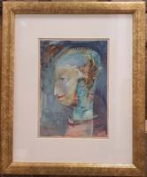Eredeti, szignózott Ruttka Ferenc festmény, női portré