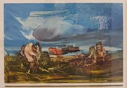 Ruttka Ferenc: Hőség- eredeti, szignózott festmény