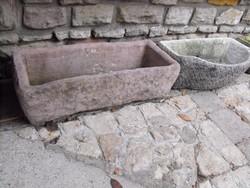 Rusztikus Nagy 87cm vörös műkő kő kút kifolyó vagy Ló itató vályú virágtartó tál nak