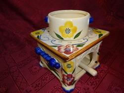 Német porcelán, kézzel festett párologtató készlet.
